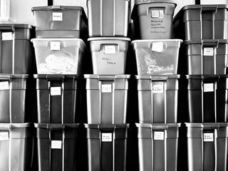 Climate Control Storage Plastic Bins