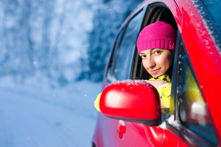 Girl with Winter Car Problems