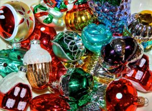 Pile of Christmas Ornamens