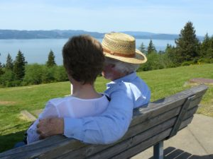 senior couple enjoying view