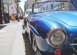 Blue Oldtimer