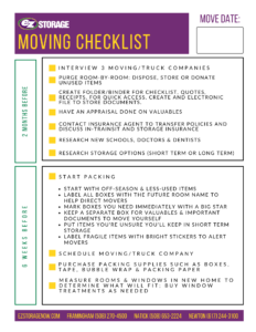EZ Storage Moving Checklist